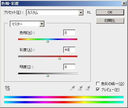 彩度の設定