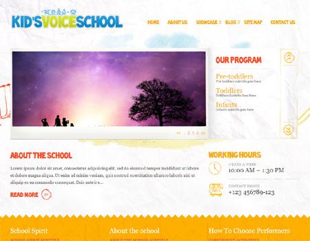 kids-voice-school - 教育関連のWordPressテーマいろいろ