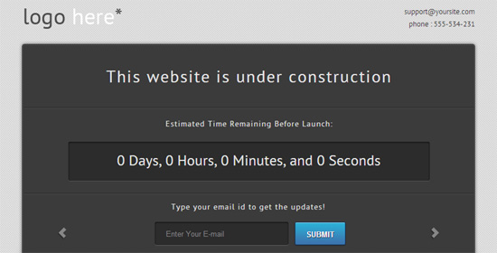 Free Site Under Construction Template