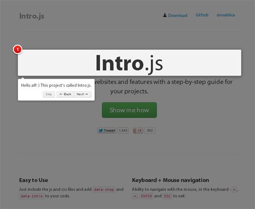 Intro.jsを使うとこうなる - 簡単にWebサイトツアーが作れるスクリプト「Intro.js」