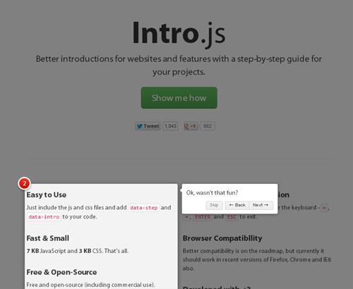次のステップはこうなる - 簡単にWebサイトツアーが作れるスクリプト「Intro.js」