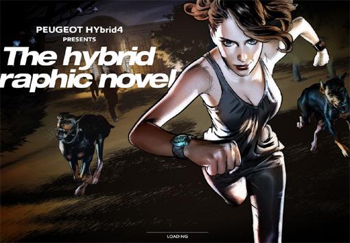 Peugeot Hybrid4 - パララックス効果を使ったサイト10個