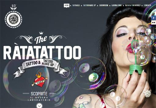 Ràtatattoo - パララックス効果を使ったサイト10個