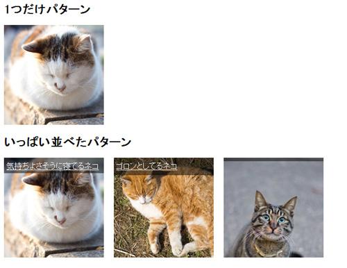 完成 - 画像にマウスオーバーしてテキストを表示する