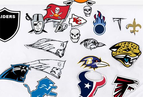 パソコンでも描いたよ - NFLシーズン開幕記念でNFLヘルメットアイコン作った