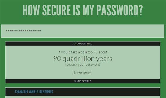 How Secure Is My Password? - いろんなサービスで使い回ししないけど、覚えやすいパスワード考えてみた