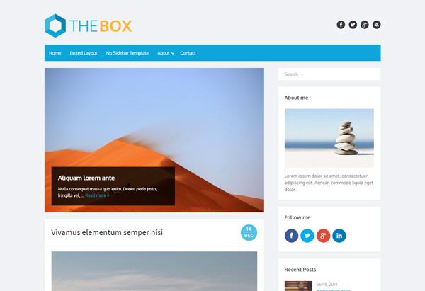 The Box - WordPressの129テーマを見て、テーマ変更の参考に