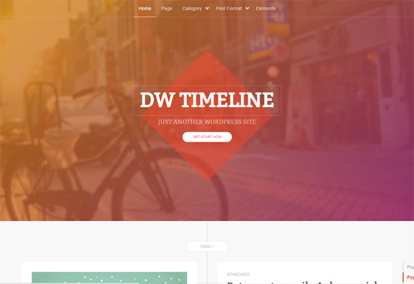 DW Timeline - WordPressの129テーマを見て、テーマ変更の参考に