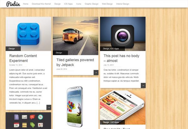 Pinbin - WordPressの129テーマを見て、テーマ変更の参考に