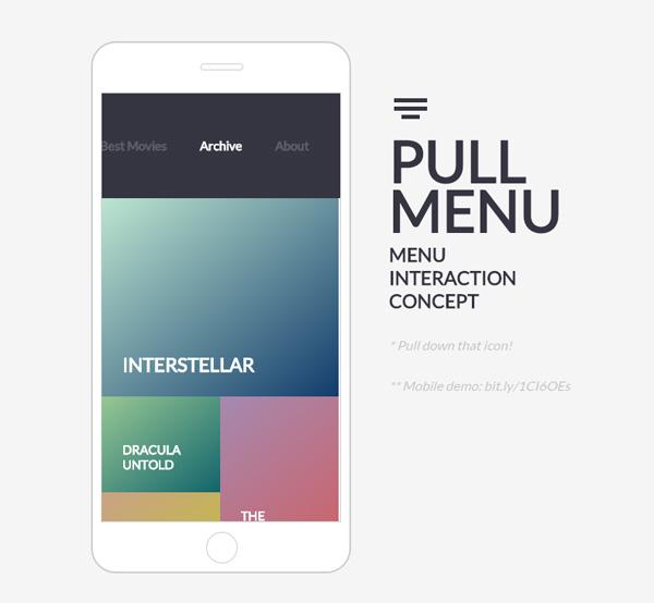 PULL MENU - レスポンシブデザインのナビゲーションアイデアいろいろ